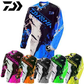 Nowy 2020 Daiwa Anti-uv Sun kurtka do wędkowania odzież rowerowa odzież koszula wędkarska oddychająca Quick Dry Fishing Spring z długim rękawem tanie i dobre opinie