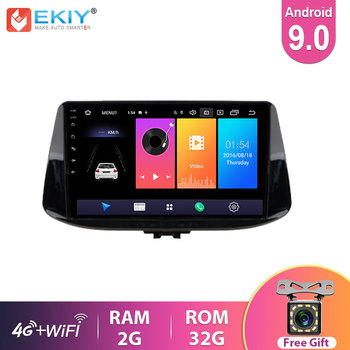 EKIY Car Radio For Hyundai I30 2017 2018 2019 Android 9.0 Navigation GPS Multimedia Navi Player Auto Stereo Head Unit DVD BT 4G image