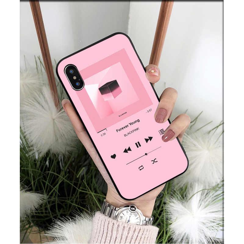 Nbdruicai per Il Caso di Iphone 11 11pro Max Fonda Nero Rosa Nero K-Pop Kpop Gruppo Ragazza Cassa Del Telefono per Iphone 8 7 6 6S Plus
