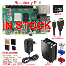 Heat-Sink Case-Box Power-Adapter Hdmi-Cable PI 4-Model 4GB-KIT:-BOARD Original 4B 2GB