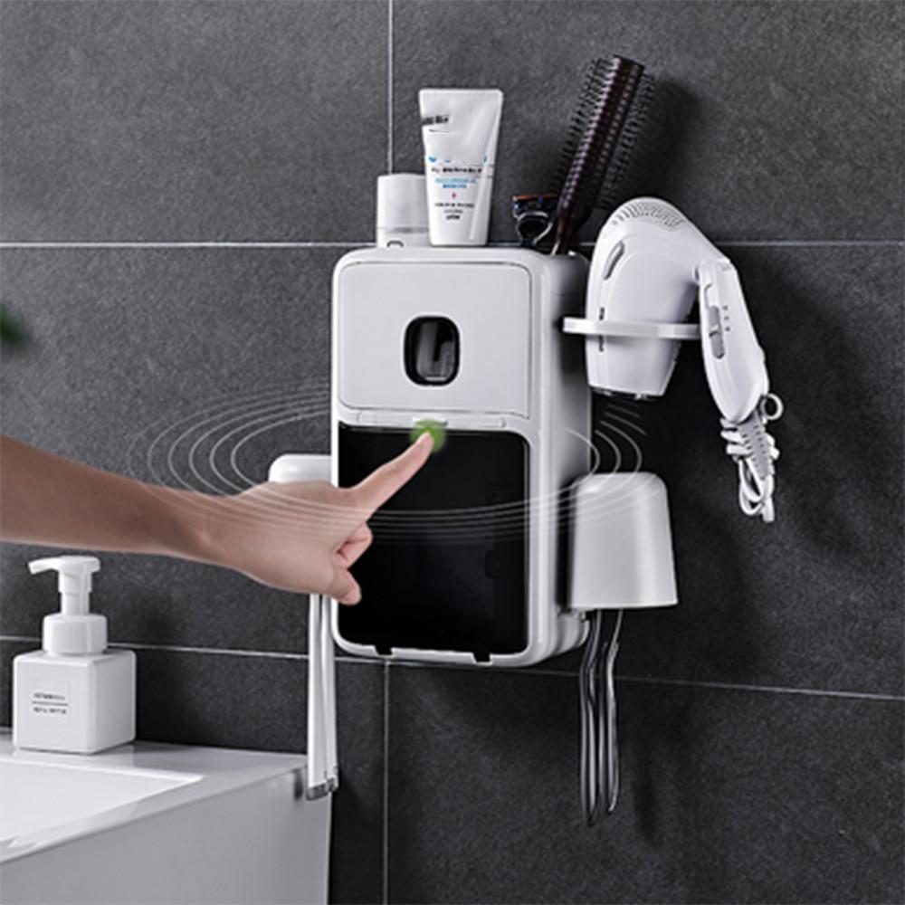 Support de brosse à dents poinçon gratuit brossage dent support de verre salle de bain bouche tasse ensemble tenture murale type dentaire support