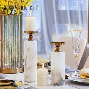 Скандинавские подсвечники, Декоративные Современные роскошные белые подсвечники, подсвечник, романтичный домашний декор XX50CH