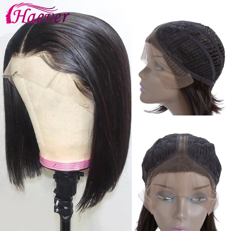 Haever Hair Brazilian Straight Remy Lace Human Hair Wig Lace Part Human Hair Wigs For Black Women T Part Wig Free Shipping