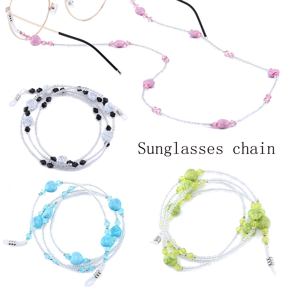 Sports Glasses Chain Rope Lanyard Anti-Slip Outdoor 1PC Heart-Shaped