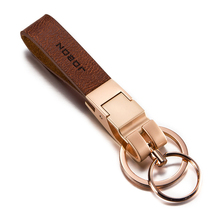 Leather Car Key Chain Fashion Ring for Business Toyota Rav4 Lada Vesta Mini Cooper Mercedes Benz Accessories Keychain