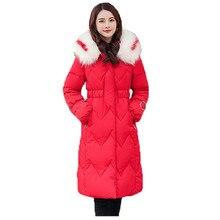 parka coat women white yellow pink 3XL plus size jacket winter new korean hooded loose fashion thick warmth clothing LR470