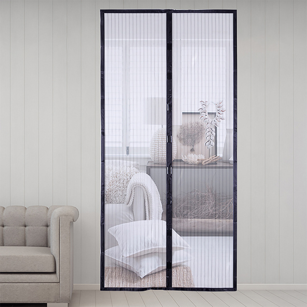 Magnetic Attractable Anti Fly Mosquito Insect Curtain Soft Frame Screen Window Mesh Net Automatic Closing Door Screen