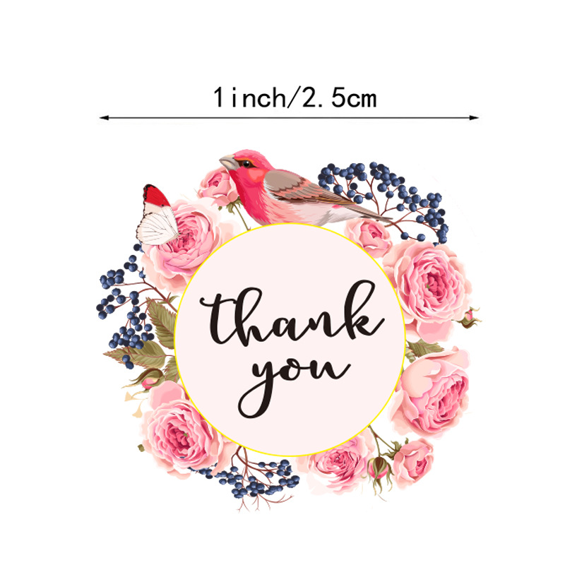 500pcs/roll Thank You Stickers for Seal Labels 1 Inch Gift Packaging Stickers Birthday Party Offer Stationery Sticker 2