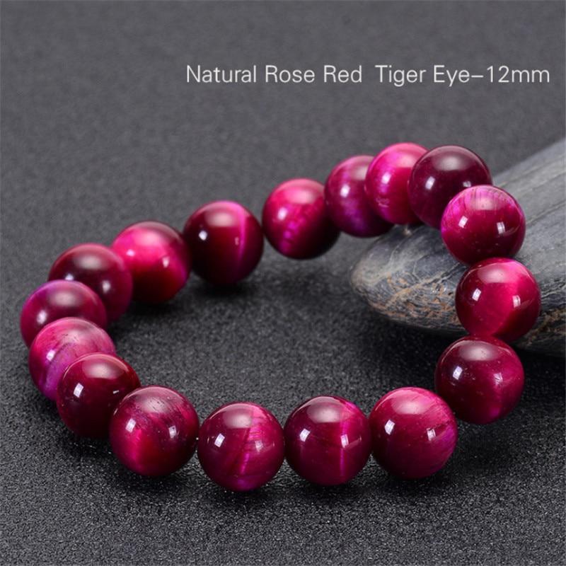 Minimalist Natural Stone Bead Rose Red Tiger Eye Bracelet Beaded Men Buddha Braclet For Woman Yoga Handmade Jewelry Homme Bijoux