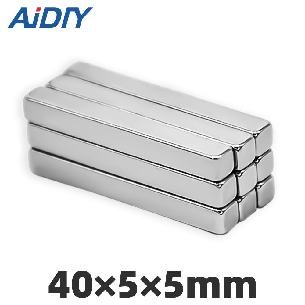 AI DIY 3/5/10/30 pcs 40x5x5mm neodymium magnet super strong powerful Block Square  rare earth magnets 40*5*5 mm