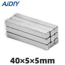 AI DIY 3/5/10/30 pcs 40x5x5mm neodymium magnet super strong powerful Block Square  rare earth magnets 40*5*5 mm