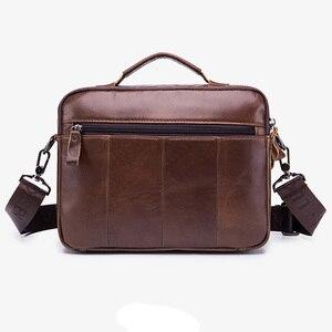 Image 2 - Men Genuine Leather Shoulder Messenger Bag mens Handbag Vintage Crossbody Bag Tote Business Man Messenger Bag