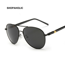 Fashion Round Pilot Sunglasses Retro Men Brand Design Shades