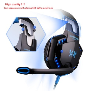 Image 2 - G2000 g9000 jogos fones de ouvido grandes com microfone luz estéreo graves profundos para computador portátil gamer ps4 novo X BOX