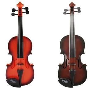 Профессиональный начинающих Скрипка детская Портативная Игрушка Скрипка музыкальный инструмент игрушки симуляция скрипки скрипка модель...