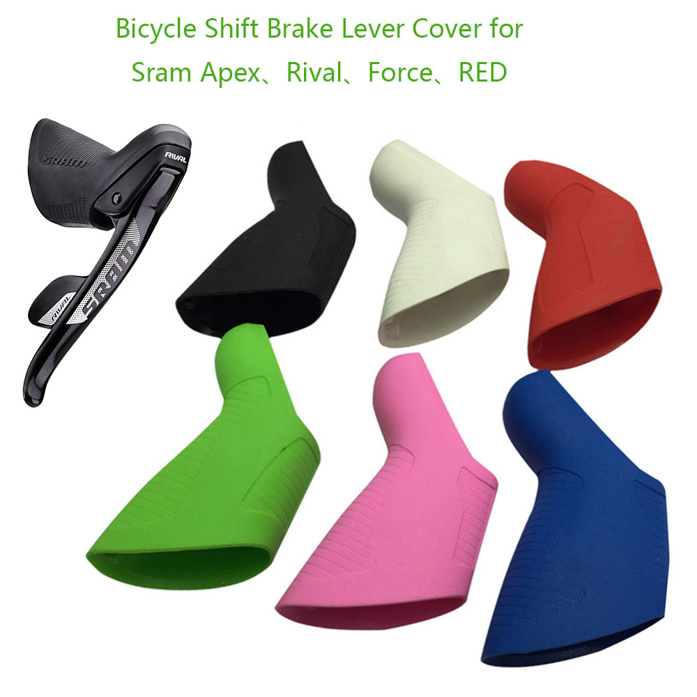 Road Fiets Shift Remhendel Cover Silicone Bike Shifter Kit Mechanische Kap Covers Voor Sram Apex Rivaal Force Rood Serie