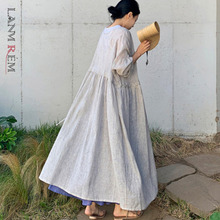 LANMREM Beige Striped Long-sleeved Drawstring Straps Waist Plus Size Women Thin Jacket Casual Fashion Cardigan 2021 New TD149