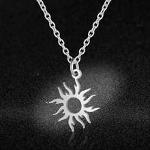 AAAAA Quality 100% Stainless Steel Sun Charm Necklace for Women Fashion Charm Necklaces Wholesale High Polish