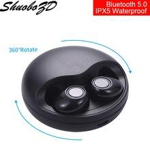 K10 TWS 5.0 écouteurs Bluetooth, casque d'écoute stéréo 3D sans fil, oreillettes double Microphone avec boîte de chargement