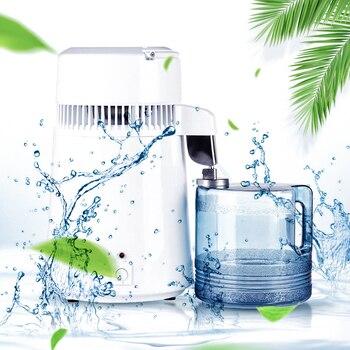 Uso abitativo Puro Distillatore di Acqua 4L Acqua Distillata Distillazione Macchina Depuratore di Acqua In Acciaio Inox Filtro Manuale Russo