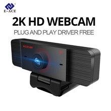 Web Cam Webcam Em Full Hd 2K Web Câmera Webcam Usb Camera Webcam Câmera Web com Microfone Para Pc Usb Câmera Web Para Computador