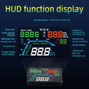 Image 2 - NEUE Q7 5,5 Zoll Auto Auto HUD GPS Head Up Display Universal Geschwindigkeitsmesser Überdrehzahl Warnung Dashboard Windschutzscheibe Projektor