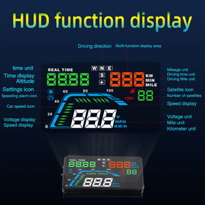 Image 2 - NEW Q7 5.5Inch Auto Car HUD GPS Head Up Display Universal Speedometers Overspeed Warning Dashboard Windshield Projector