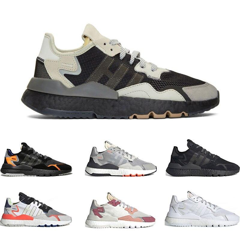 2020 Running Shoes For Men Nite Jogger BLACK AND GREY Black Orange GREY PACK Triple Black White Grey Red ICE MINT