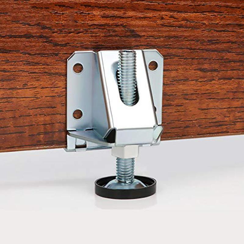 Wardrobe Level Adjustable Feet Screw Furniture Cabinet Legs Steel Table Sofa Feet Corner Bracket Floor Protection Hardware