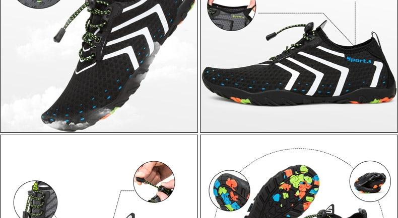 de secagem rápida aqua praia sapatos de