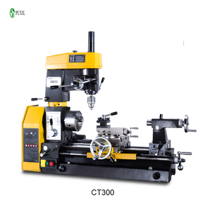 CT300 household lathe small multi-functional lathe bench drill-mill-milling machine metal milling lathe