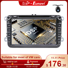 Eunavi 2 Din Android Car Multimedia DVD For VW Passat CC Polo GOLF 5 6 Touran EOS T5 Sharan Jetta Tiguan RNS510 Autoradio GPS 4G