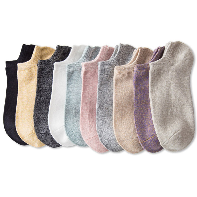 Women's High Quality Cotton Socks Shallow mouth 37