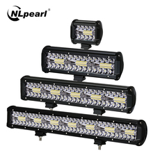 цена на Nlpearl 12V 24V 3-Row Combo Led Bar Offroad 4-20 Spot/flood Led Light Bar for Car Jeep Truck Suv Atv 4x4 Atv tractors headlight