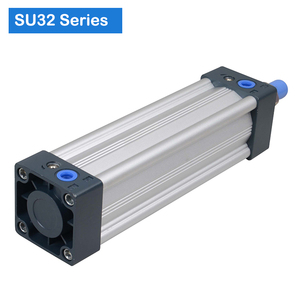 Image 2 - SU32  Series Bore 32 stroke 25 1000 Air Cylinders Double Acting Single Rod  pneumatic cylinder price SU series cylinder SU32X100