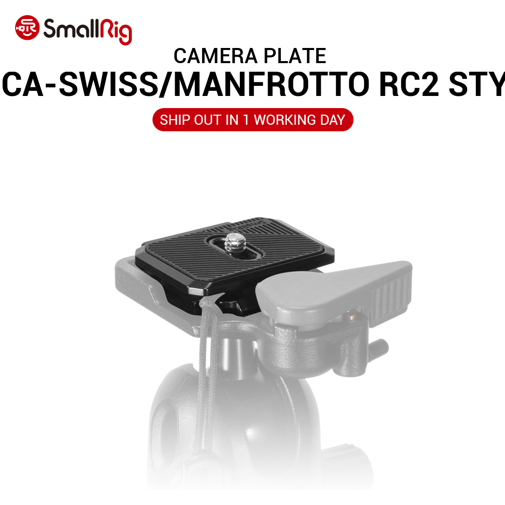 SmallRig DSLR Camera Plate Quick Release Plate (Arca-Swiss/Manfrotto RC2 style) Aluminum Compatible for Sony <font><b>Rx100</b></font> Series 2364 image