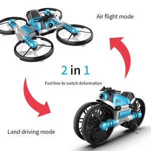 Image 2 - NEW drone with camera 2.4G remote control Helicopter deformation motorcycle folding four axis aircraft rc Quadcopter toy for kid