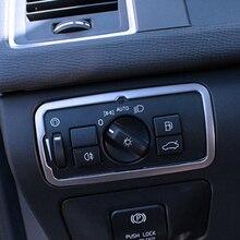 Рама переключателя фар из нержавеющей стали для Volvo XC60 S60 V60 S80 V40 Инструменты для укладки волос автомобиля