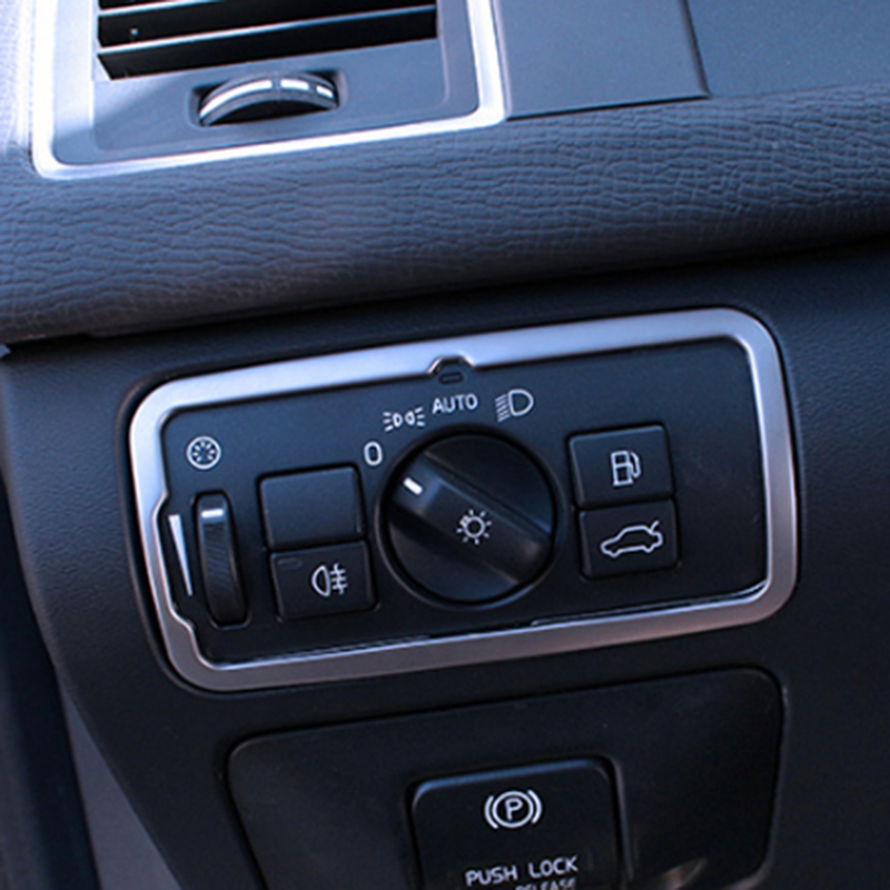 Stainless Steel Headlight Switch Frame Trim For <font><b>Volvo</b></font> XC60 <font><b>S60</b></font> V60 S80 V40 Car Hair Styling Tools image