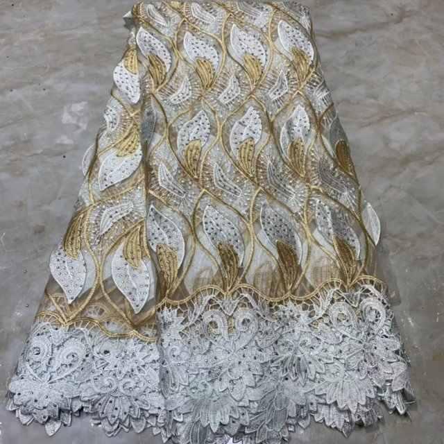 أحدث الأفريقي أقمشة الدانتيل الدانتيل الفرنسي بالحجارة زهرة تصميم التطريز النسيج الأفريقي النيجيري غانا فستان الحفلات