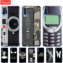 Capa protetora para smartphone a70 de tpu macio, case protetor, silicone, para samsung galaxy a70, a70, 2019 70 a705 a705f de volta