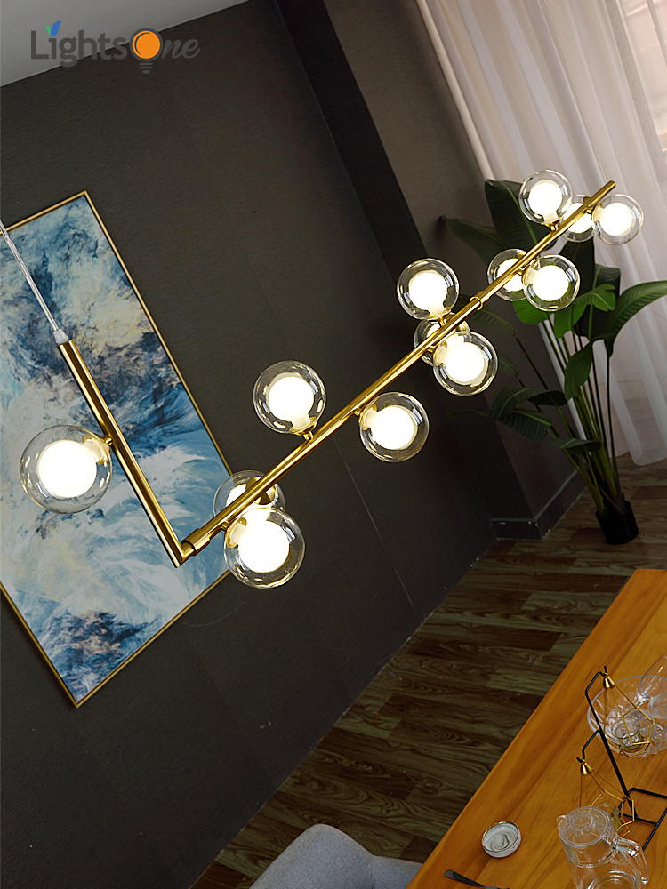 Nordic restaurant chandelier light luxury magic bean front desk new modern minimalist bar counter dining lamp