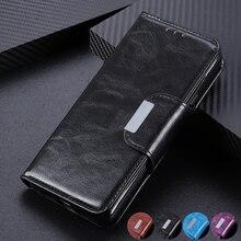 6 Slot Per Schede di Vibrazione Del Raccoglitore Custodia In Pelle per Huawei Mate 30 Lite P30 Pro Y5 Y6 Y9 Del Basamento Chiusura Magnetica ID e Carte di Credito Tasca