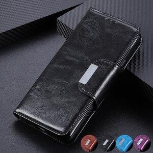 Image 1 - 6 miejsc na karty portfel klapki skórzane etui do Samsung Galaxy A10 A20 A30 A40 A50 A70 S10 S9 uwaga 10 magnetyczne zamknięcie karty kieszeń