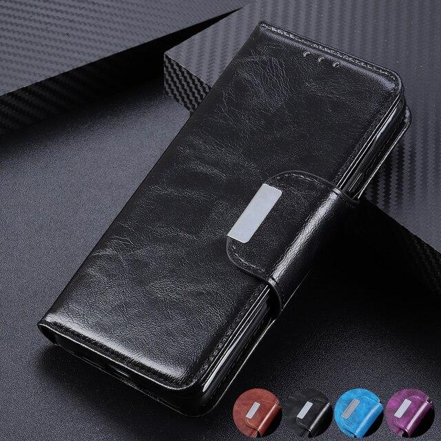 6 ranuras para tarjetas cartera Flip Funda de cuero para LG Stylo 5 4 K40 K50 G8 G8S ThinaQ X4 soporte magnético cierre ID y bolsillo de tarjetas de crédito