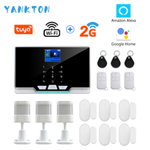 YANKTON G20 WIFI GSM Home Security Alarm System Burglar Alarm Kit Works With Amazon Alexa&Google Home Android&iOS APP Control yobang security russian french spanish wifi alarm system home gsm gprs burglar alarm ios android app control outdoor ip camera