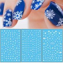 1 szt. 3D naklejka do paznokci motyw świąteczny wzór mieszany jeleń/płatek śniegu porady dotyczące paznokci DIY naklejka dekoracyjna naklejka LAF281 284
