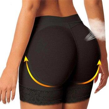 Women Body Shaper Padded Butt Lifter Panty Butt Hip Enhancer Fake Hip Shapwear Briefs Push Up Panties Plus Size Booty Shorts