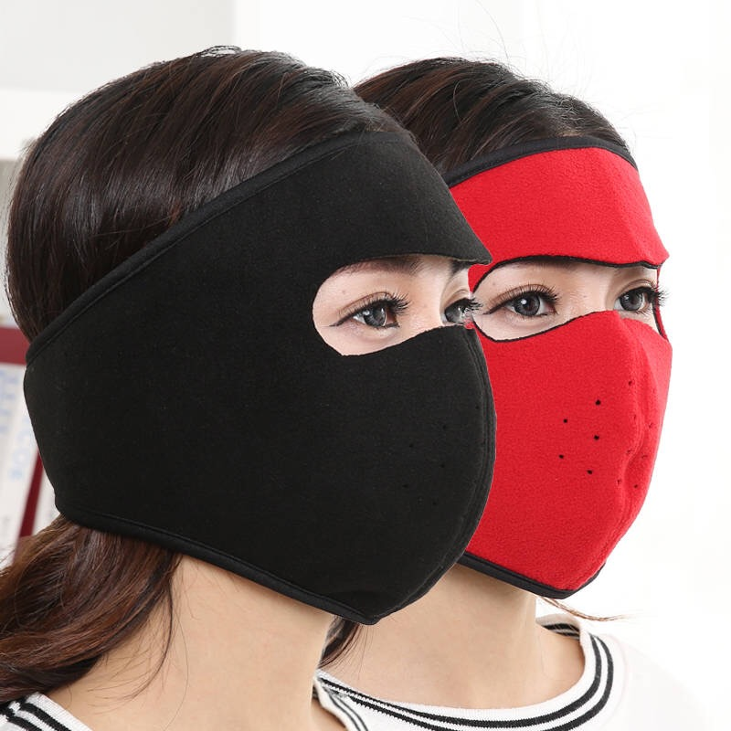 both men and women autumn and winter cycling mask heating thickened mask earmuffs integrated ear Innrech Market.com