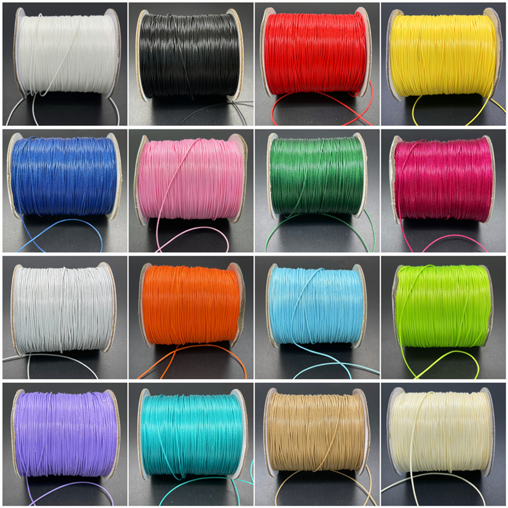 NEW 0.5/0.8/1.0/1.5/2.0/2.5mm Waxed Cotton Cord Thread String Strap Necklace Rope for Jewelry Making for Shamballa Bracelet